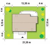 Минимальные размеры участка для проекта Z129