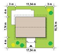 Минимальные размеры участка для проекта Z12