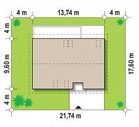 Минимальные размеры участка для проекта Z130