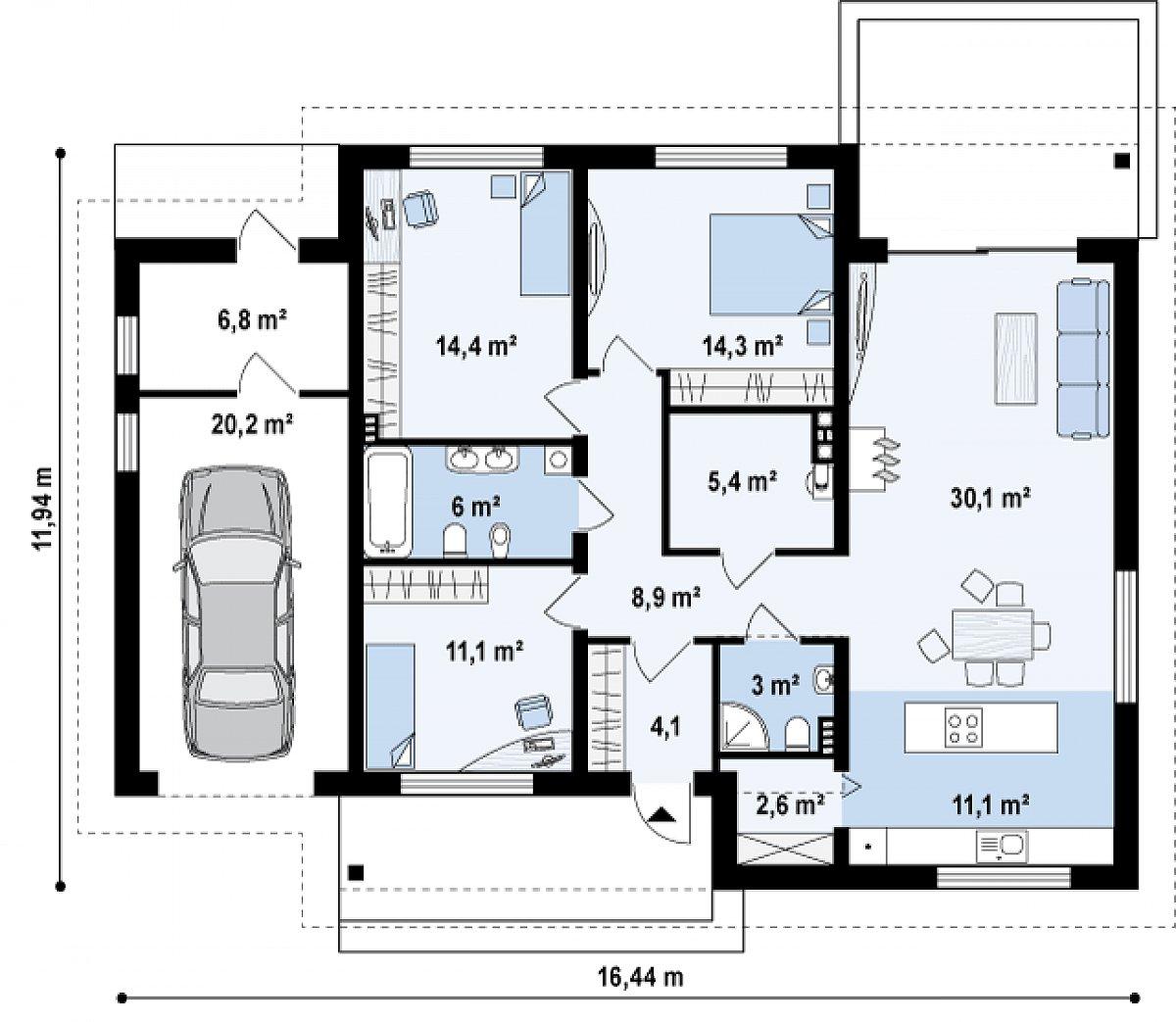 Первый этаж  дома Z131