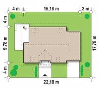 Минимальные размеры участка для проекта Z132