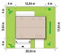 Минимальные размеры участка для проекта Z133
