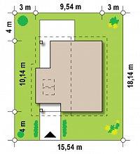 Минимальные размеры участка для проекта Z134