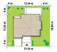 Минимальные размеры участка для проекта Z135