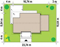 Минимальные размеры участка для проекта Z136 GP