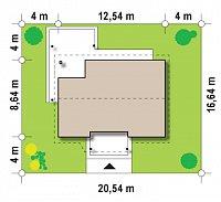 Минимальные размеры участка для проекта Z136