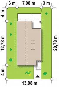 Минимальные размеры участка для проекта Z137