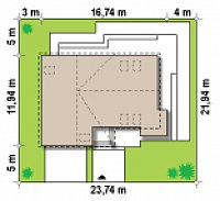 Минимальные размеры участка для проекта Z138