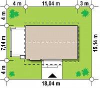 Минимальные размеры участка для проекта Z139 v2