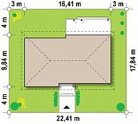 Минимальные размеры участка для проекта Z140 v1