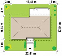 Минимальные размеры участка для проекта Z140