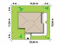 Минимальные размеры участка для проекта Z141 GL