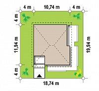 Минимальные размеры участка для проекта Z141