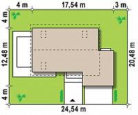 Минимальные размеры участка для проекта Z142