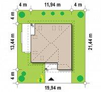 Минимальные размеры участка для проекта Z143