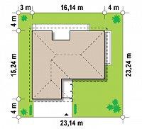 Минимальные размеры участка для проекта Z144