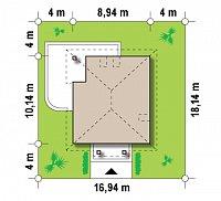 Минимальные размеры участка для проекта Z145