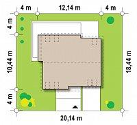 Минимальные размеры участка для проекта Z147