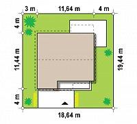 Минимальные размеры участка для проекта Z148