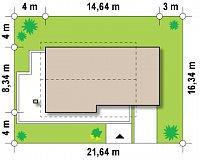Минимальные размеры участка для проекта Z149