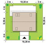 Минимальные размеры участка для проекта Z14