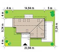 Минимальные размеры участка для проекта Z150 GL