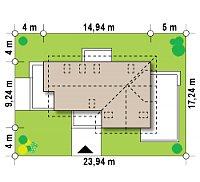 Минимальные размеры участка для проекта Z150