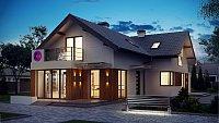 Вариант исполнения проекта дома Z150