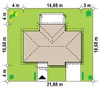 Минимальные размеры участка для проекта Z151