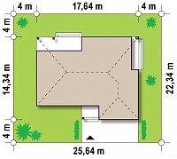 Минимальные размеры участка для проекта Z152
