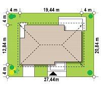 Минимальные размеры участка для проекта Z153 GL