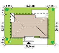 Минимальные размеры участка для проекта Z153