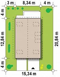 Минимальные размеры участка для проекта Z154