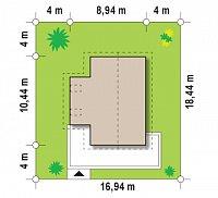 Минимальные размеры участка для проекта Z155