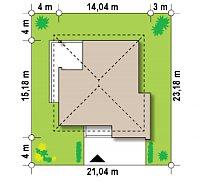 Минимальные размеры участка для проекта Z156