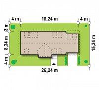 Минимальные размеры участка для проекта Z157