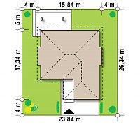 Минимальные размеры участка для проекта Z158