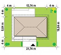 Минимальные размеры участка для проекта Z159