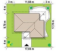 Минимальные размеры участка для проекта Z15