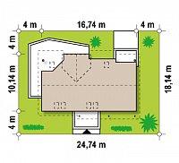 Минимальные размеры участка для проекта Z160