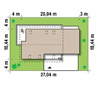 Минимальные размеры участка для проекта Z161