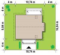Минимальные размеры участка для проекта Z162