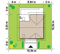 Минимальные размеры участка для проекта Z163