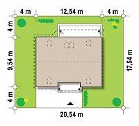 Минимальные размеры участка для проекта Z164