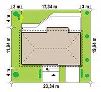 Минимальные размеры участка для проекта Z165