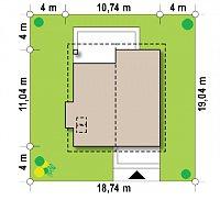 Минимальные размеры участка для проекта Z166
