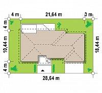 Минимальные размеры участка для проекта Z167