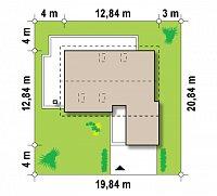 Минимальные размеры участка для проекта Z168