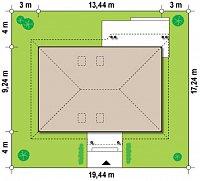 Минимальные размеры участка для проекта Z169