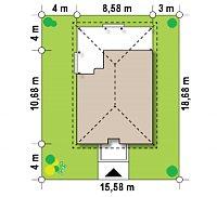 Минимальные размеры участка для проекта Z16